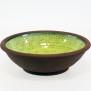 Avtryck - skål grön - H 7,5 cm, Diam 25,5 cm