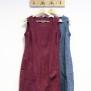 Linneklänning med fickor, utan ärm - XL