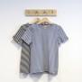 T-shirt smalrandig blå/vit