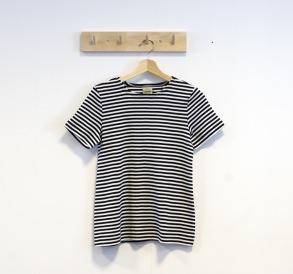 T-shirt smalrandig svart/vit - S
