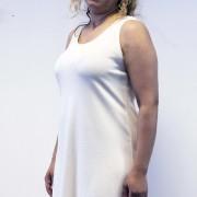 Klänning offwhite A-linje