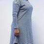 Klänning blå/vit randig - L