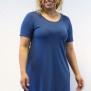 Klänning denim blå A-linje - L