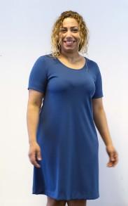 Klänning denim blå A-linje - S