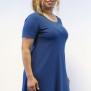 Klänning denim blå A-linje