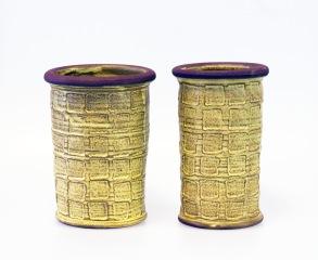 Avtryck - vaser gula - H 18,5 cm  D 13,5 cm