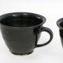 Q - handdrejad kopp svart