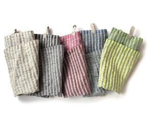 Storm handduk i 100% lin - Cerise/bordeaux