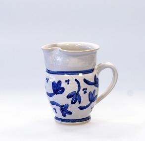 Blå blomma - handdrejad liten kanna - Liten kanna Blå blomma