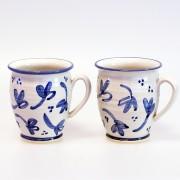 Blå blomma - handdrejad kopp