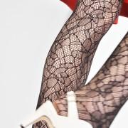 Strumpbyxa Edith spets - färg svart