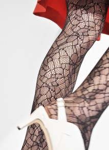 Strumpbyxa Edith spets - färg svart - Small