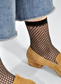 Socka Vera - nätmönster svart - one size