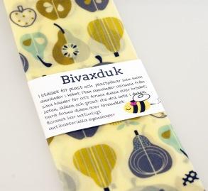 Bivaxduk Frukt beige/blå -