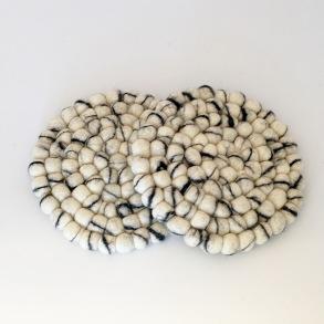 Underlägg Chunky i tovad ull 20 cm - Snöbär