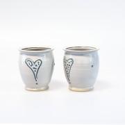 Prickhjärta - handdrejad kopp utan öra