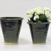 Slinga - krukor i grön glasyr