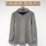 Kelly, stickad tröja duvgrå i alpacka ull - Duvgrå Stl XL