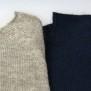 Mary, stickad tunn tröja i alpacka ull - Duvgrå Stl XL