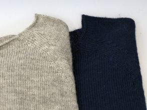 Mary, stickad tunn tröja i alpacka ull - Duvgrå Stl L