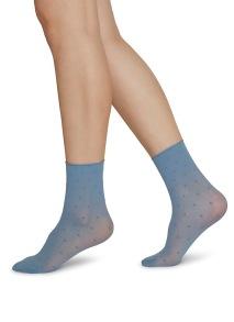 Socka Judith 2-pack ljusblå/elfenben - One size