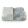 Storm badhandduk i 100% lin - Blå ljusblå