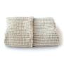 Storm badhandduk i 100% lin - vit gyllen