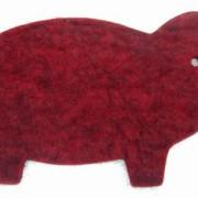 Grytunderlägg i ull - gris