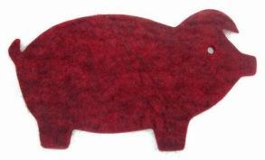 Grytunderlägg i ull - gris -
