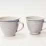 Q - handdrejad kopp - Q - kopp Liten. H 8 cm , B med handtag 11,5 cm.