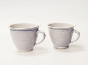 Q - handdrejad kopp - Q - kopp Stor. H 9 cm , B med handtag 14 cm.