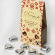 Choklad hjärtan - vit choklad och jordgubb
