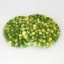 Underlägg Chunky i tovad ull 20 cm - Lime