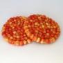 Underlägg Chunky i tovad ull 20 cm - Apelsin
