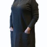 Tunika i mjuk merinoull med fickor