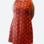 Klänning Prick röd/orange - Prick röd/orange L