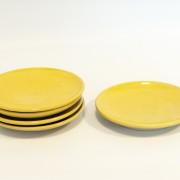 Q - handdrejad assiette gul