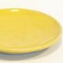 Q - handdrejad assiett gul
