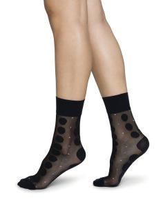 Socka Viola Dot svart - One size