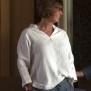 Blus i linne - Blus i linne, ljusgrå stl 42