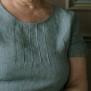 Linneklänning turkos med fickor