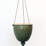Tidlösa - handdrejad ampel grön - H 18 cm Diam 16 cm