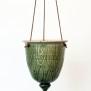 Löv - handdrejad ampel grön