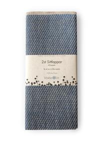 Sittlapp 2-pack i lin - Sittlapp 2-pack i lin blå