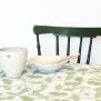 Kaffeduk Lana, grönt bladmönster