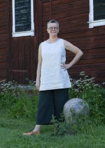 Linne - klassisk modell i naturfärgat linne - XS