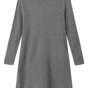 Klänning stålgrå i mjuk merinoull (KOPIA)