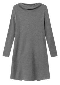 Klänning stålgrå i mjuk merinoull (KOPIA) - S