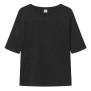 T-shirt med ficka, svart - XL