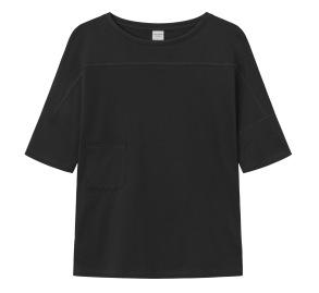 T-shirt med ficka, svart - XS